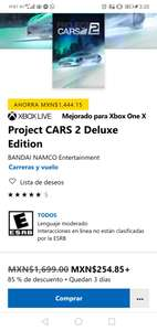 Microsoft Store: Project Cars 2 Deluxe edition