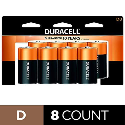 Amazon: Pilas alcalinas Duracell CopperTop D de Larga duración, 8 Unidades