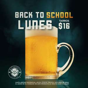 MCCARTHY'S IRISH PUB: BACK TO SCHOOL TARROS 355ML A 16MXN