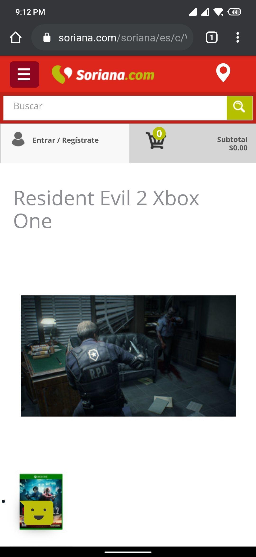 Soriana en línea: Resident evil 2 remake (Xbox one)