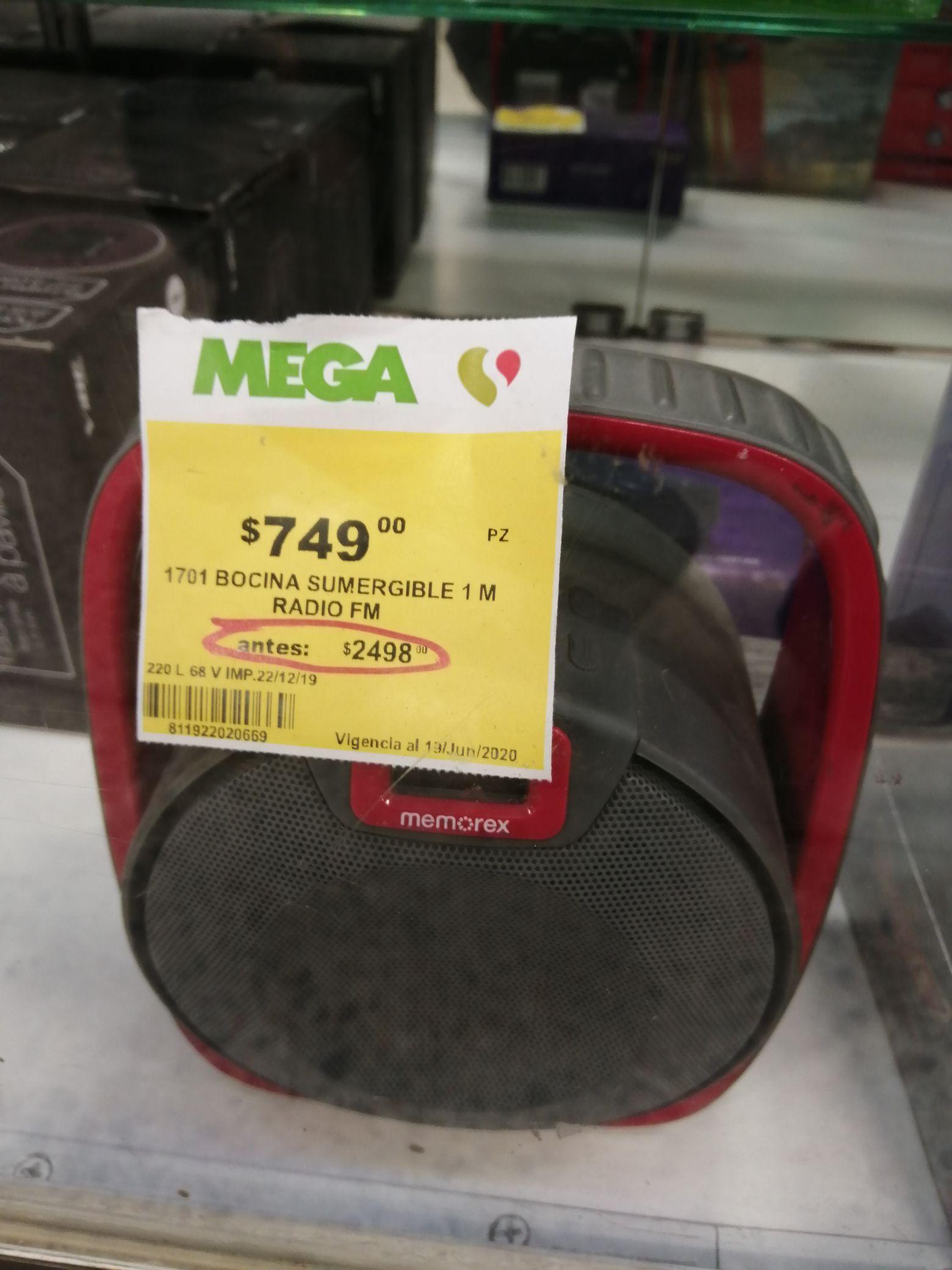 MEGA Soriana: Bocina sumergible