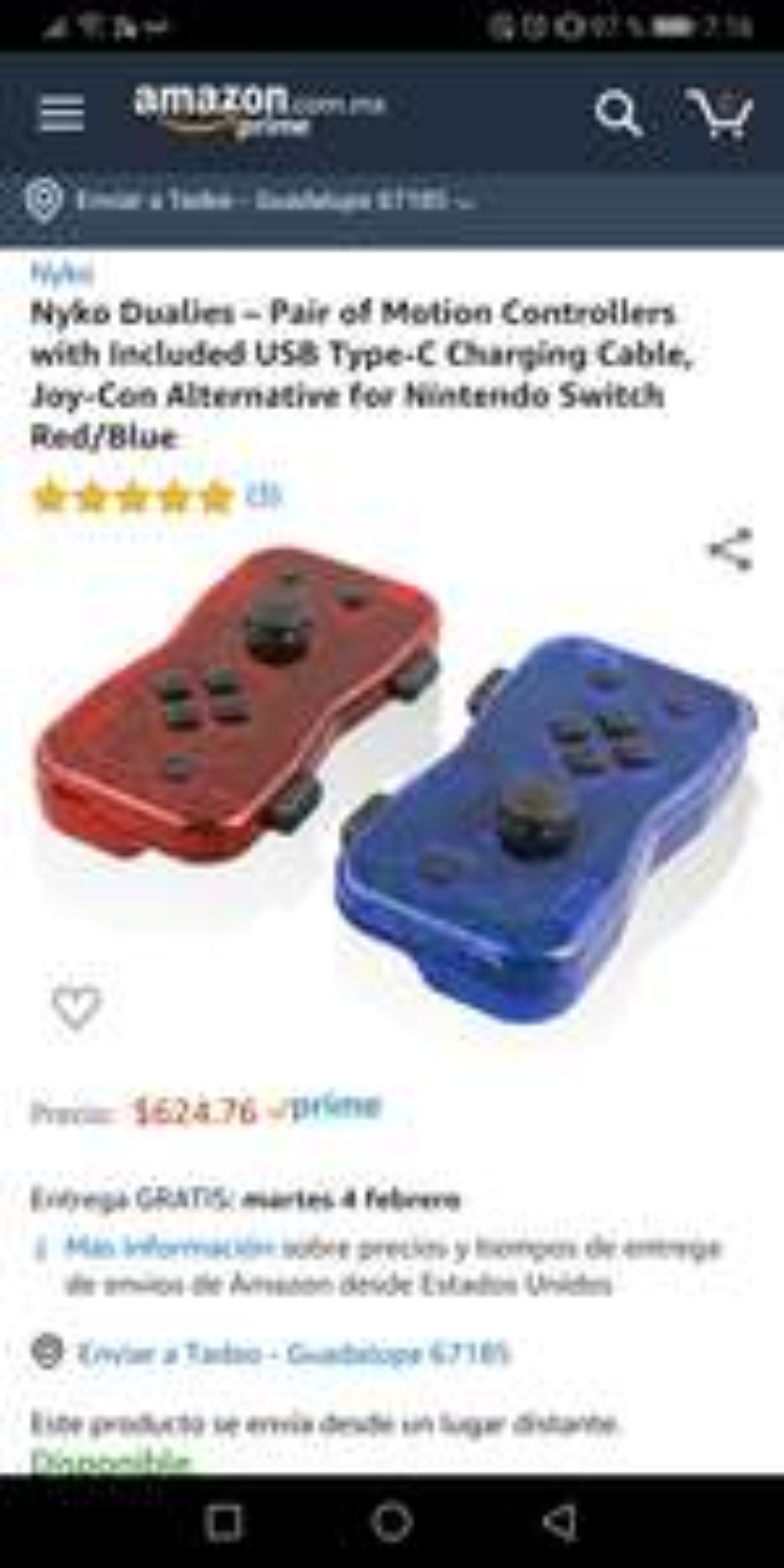 Amazon: Nyko Dualies - Par de controles para Nintendo Switch
