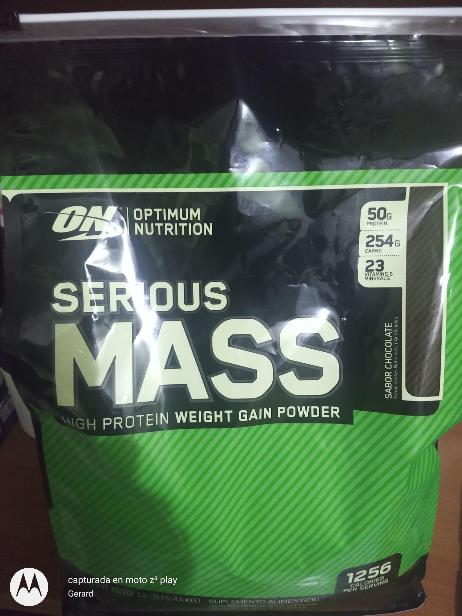 Costro: Serious Mass de 12Lb sabor chocolate