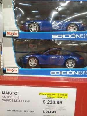 Sam's Club: Autos 1/18 Maisto