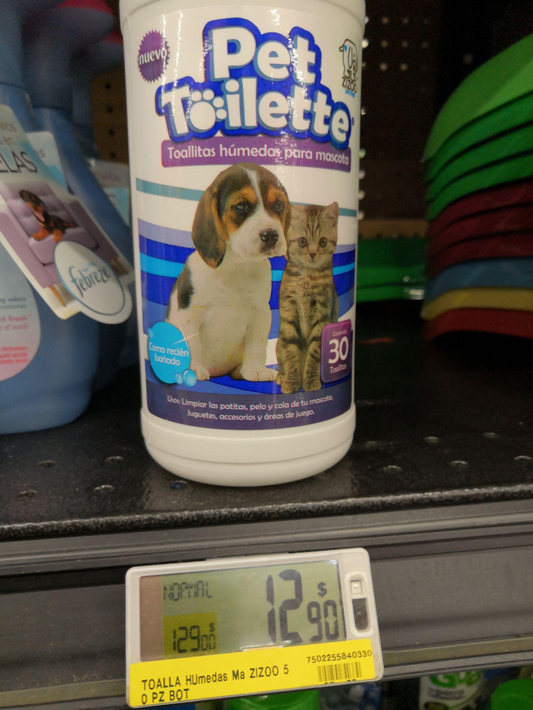 Soriana: Toallas limpiadoras para mascotas