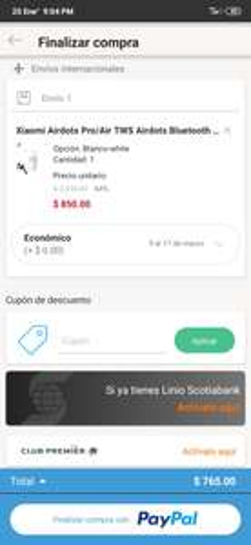 Linio Appk: Airdots Pro (pagando con Paypal)