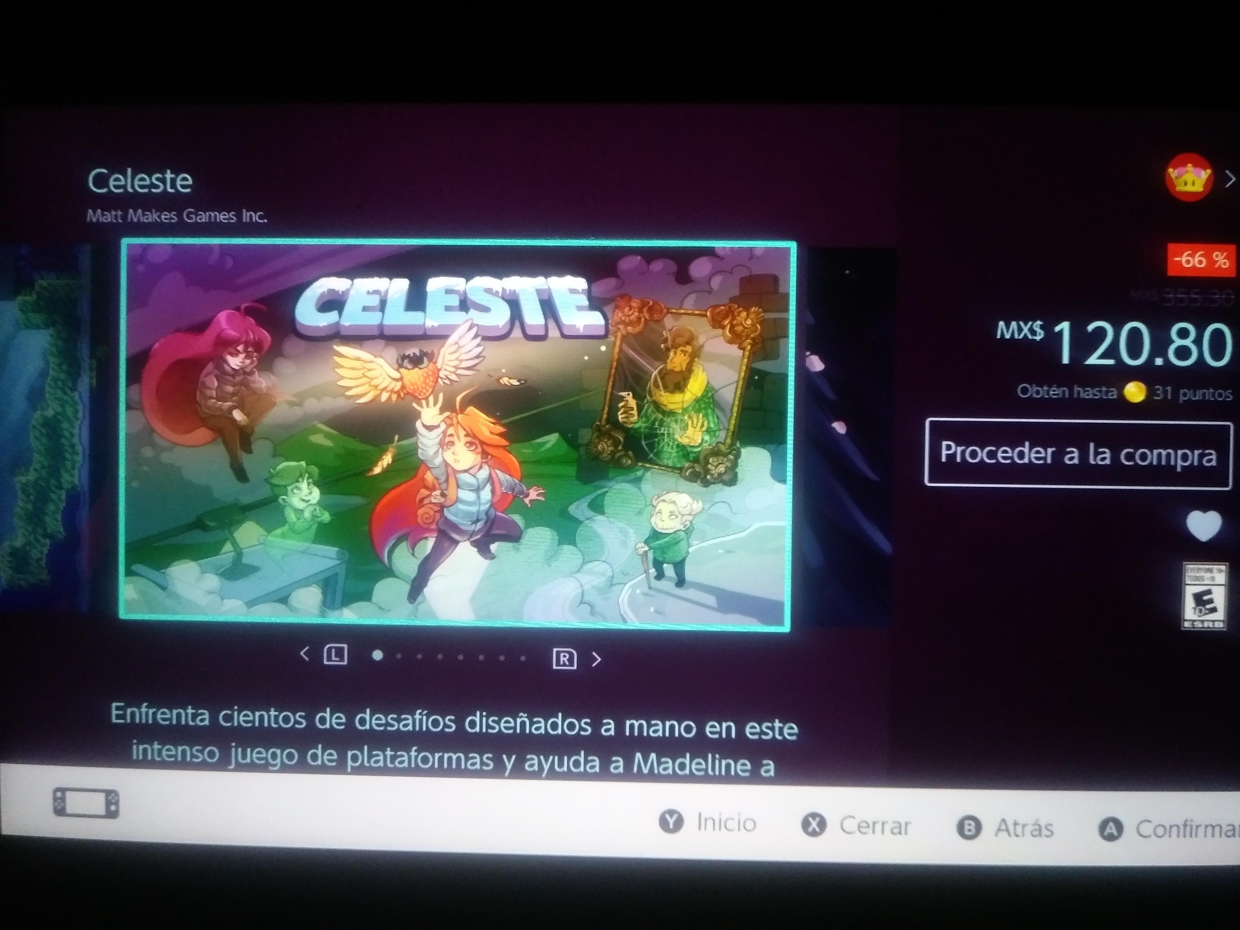 Nintendo eShop: Celeste para Switch