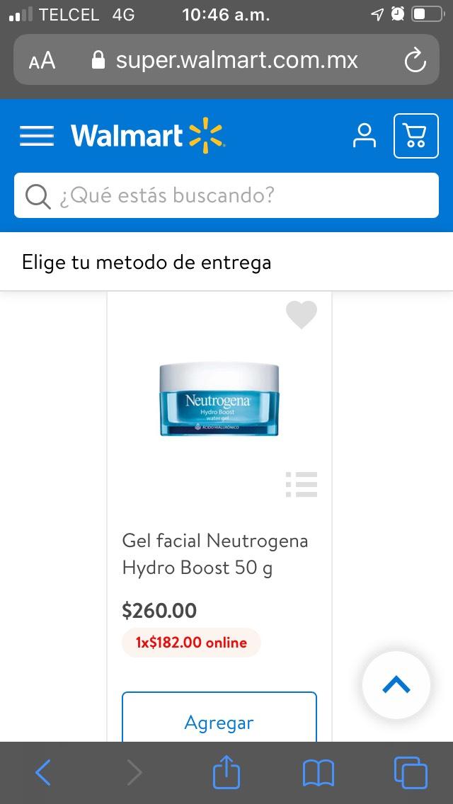 Walmart: Neutrogena con ácido hialuronico