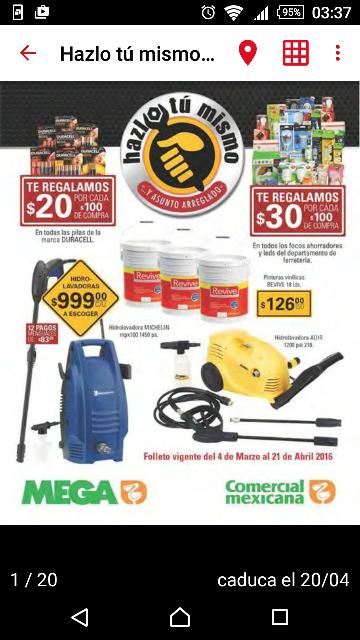 Comercial Mexicana: hidrolavadora Michelin MPX 100S a $999