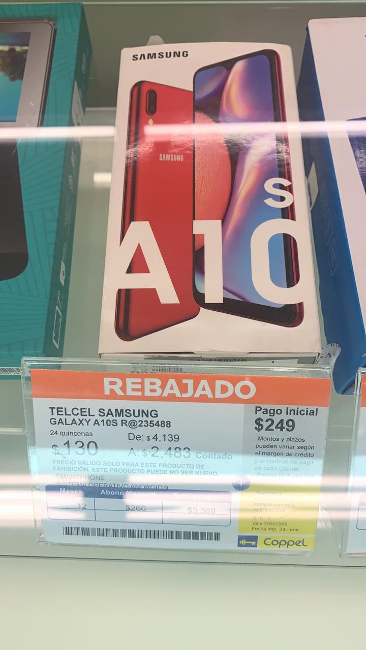Coppel: Samsung Galaxy A10S