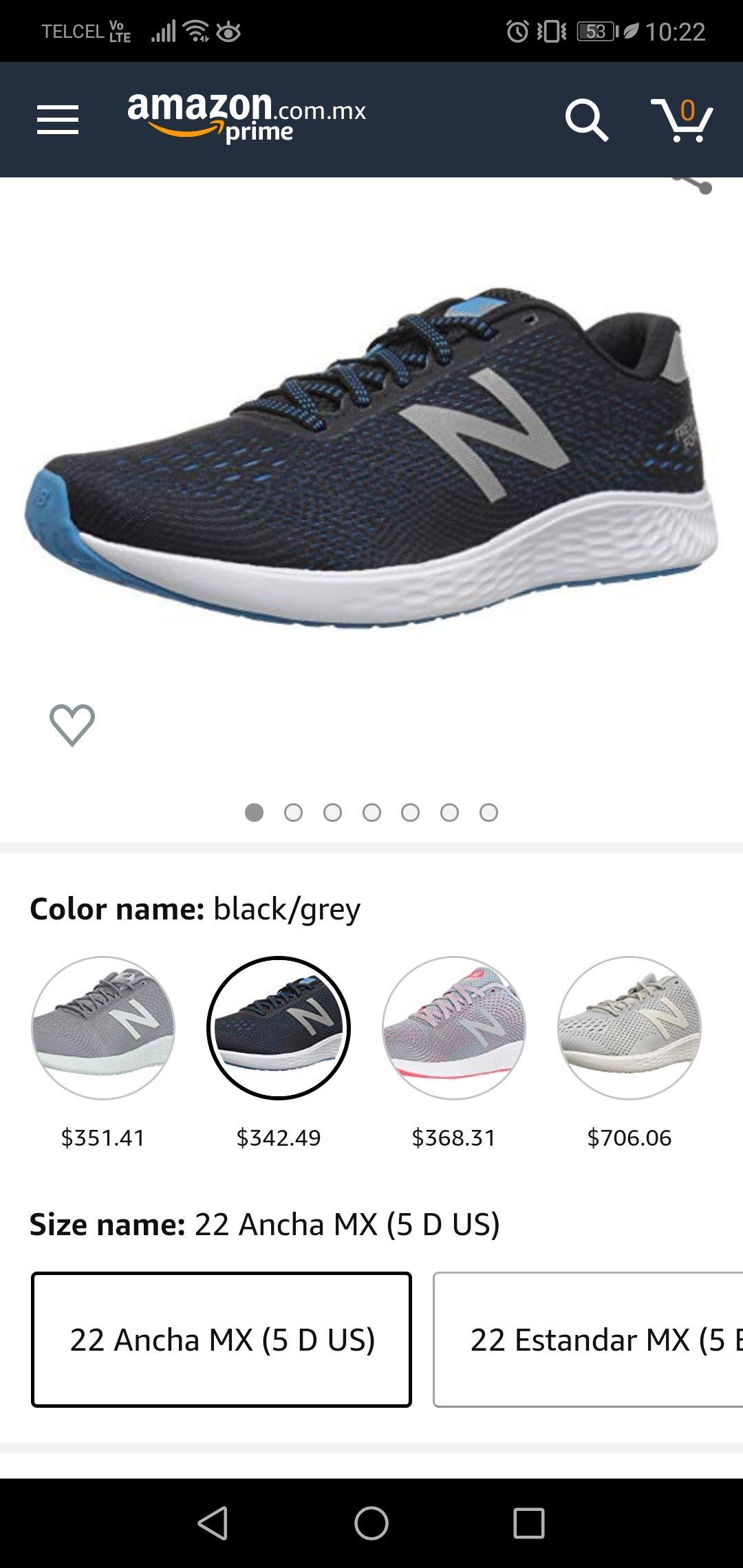 Amazon: Tenis usa new balance solo talla chicas varios colores