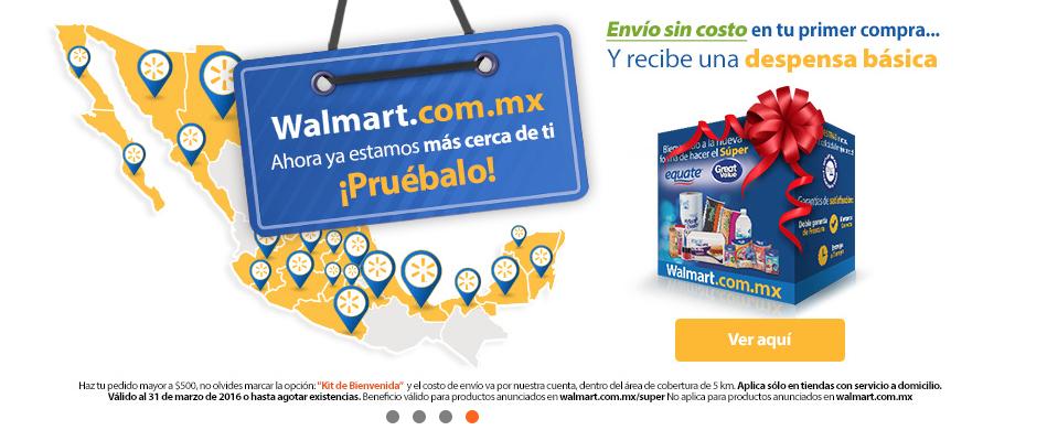 Walmart en línea Súper: regresa la Despensa gratis + envío sin costo en tu primera compra