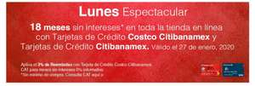 Costco en línea: 18 MSI sin mínimo con Citibanamex
