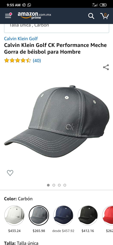 Amazon: Gorra Calvin Klein golf