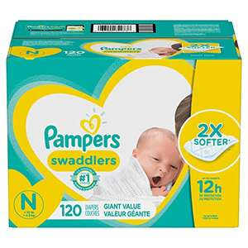 Amazon: Pampers 120 Pañales Swaddlers, Unisex, Recién Nacido