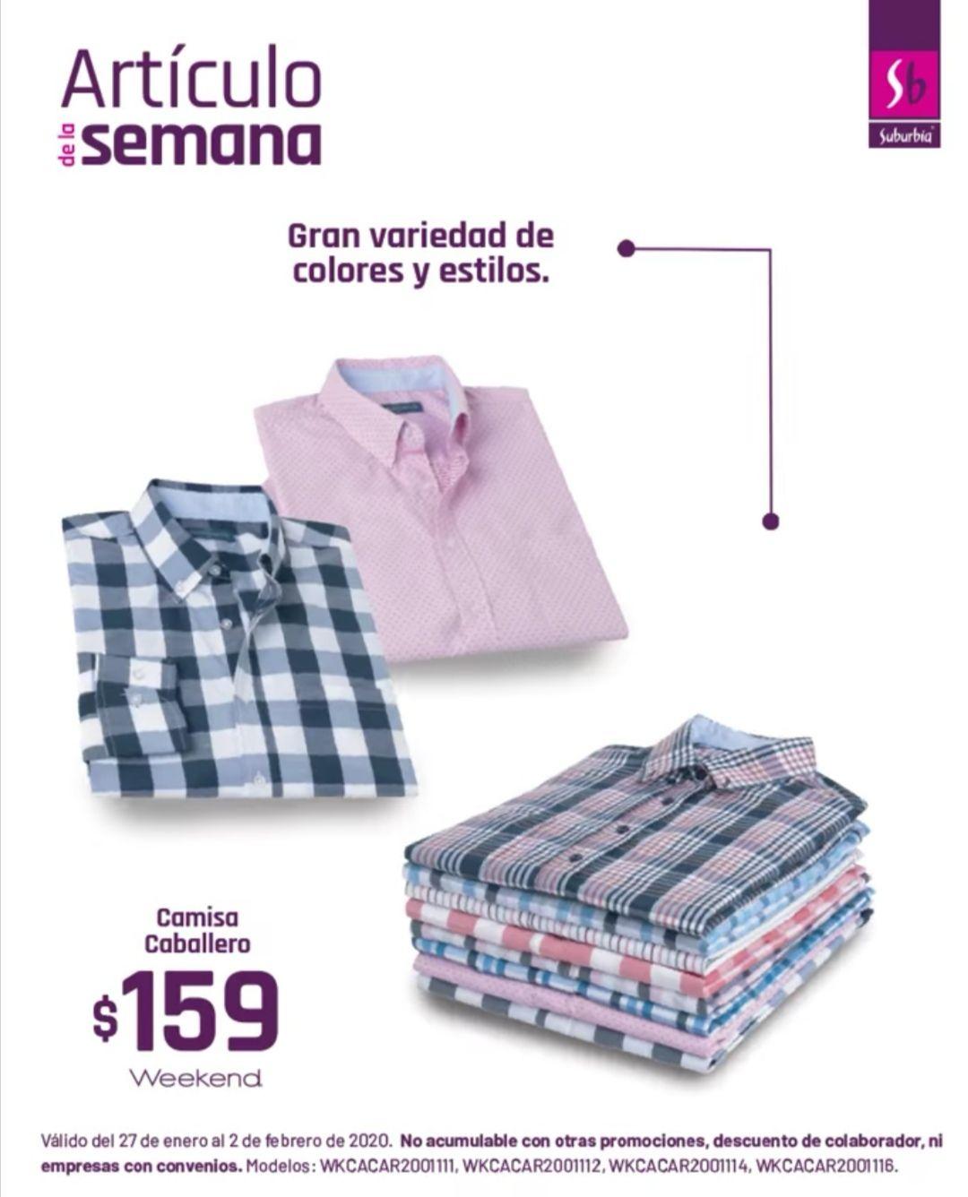 Suburbia: Camisa Caballero Weekend $159
