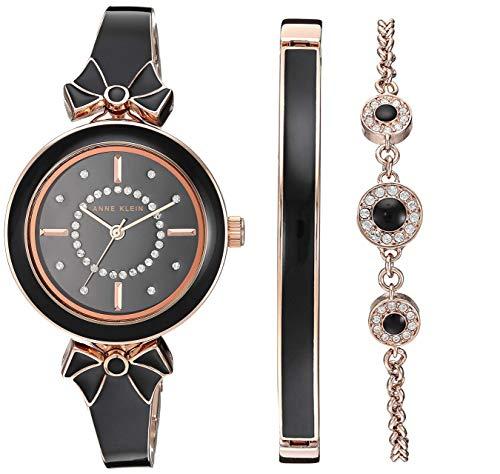 Amazon: Kit Reloj con Swarovski Anne Klein para Mujer 31mm+2 Pulseras