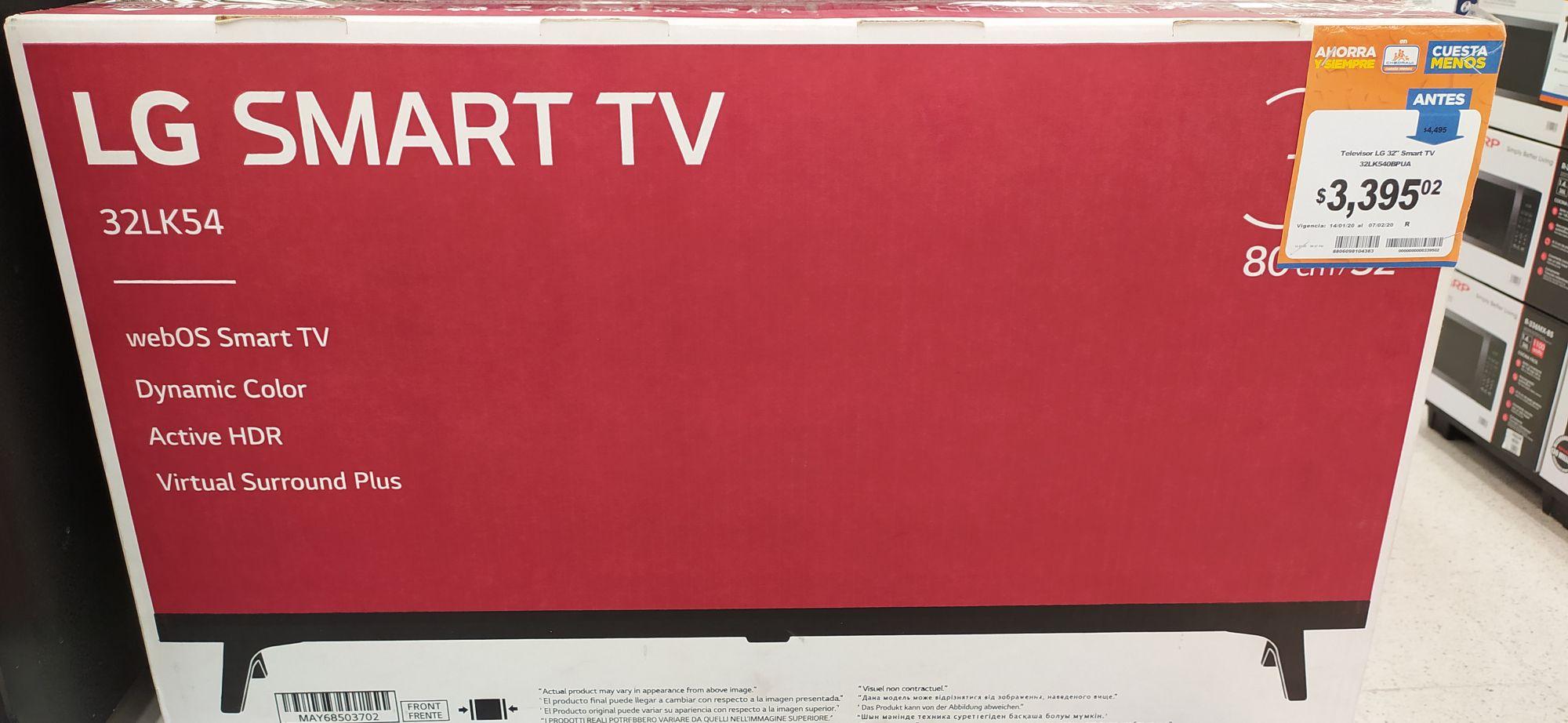"""Chedraui: Pantalla LG 32"""" Smart tv"""