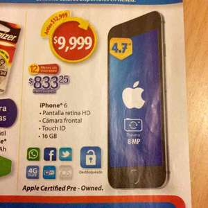 Walmart: iPhone 6 de 16 GB Plata Refurbished a $9,999