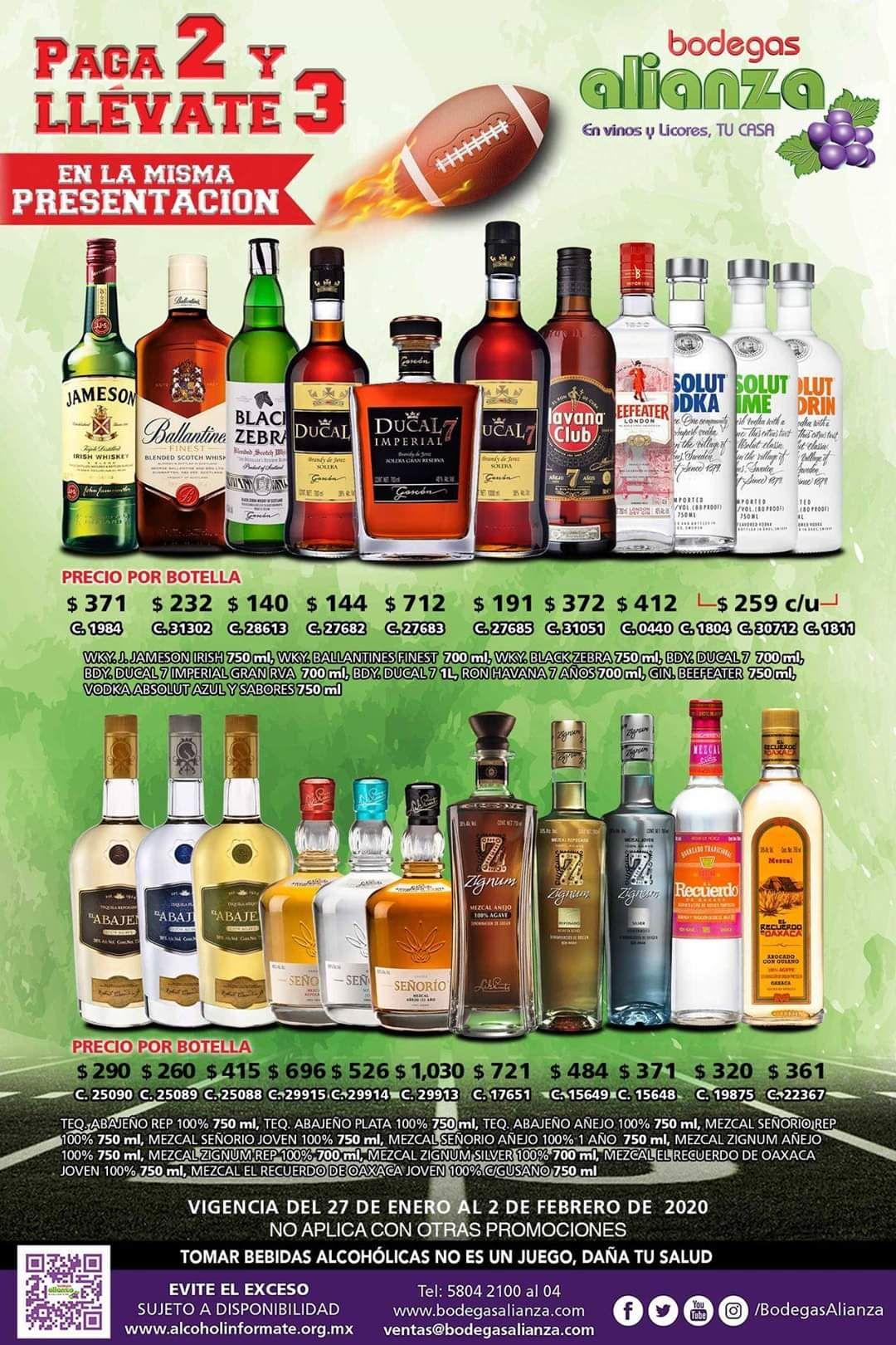 Bodegas Alianza: 3 x 2 en varias botellas