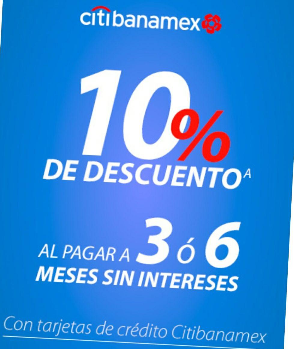 Descuentos 10% o 5% Italika Motos (citibanamex)