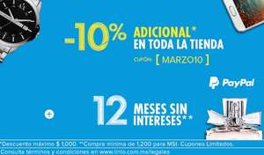 Linio: cupón de 10% de descuento pagando con PayPal