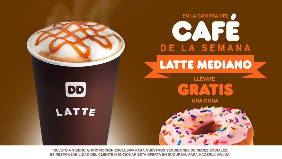 Dunkin' Donuts: Compra un Latte Mediano y te regalan la dona que tú quieras