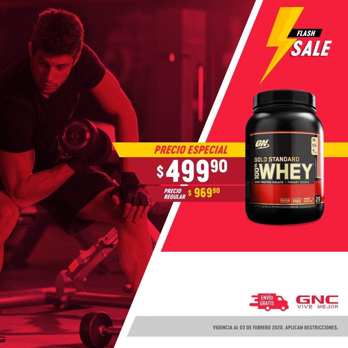 GNC 100% whey protein $499.9