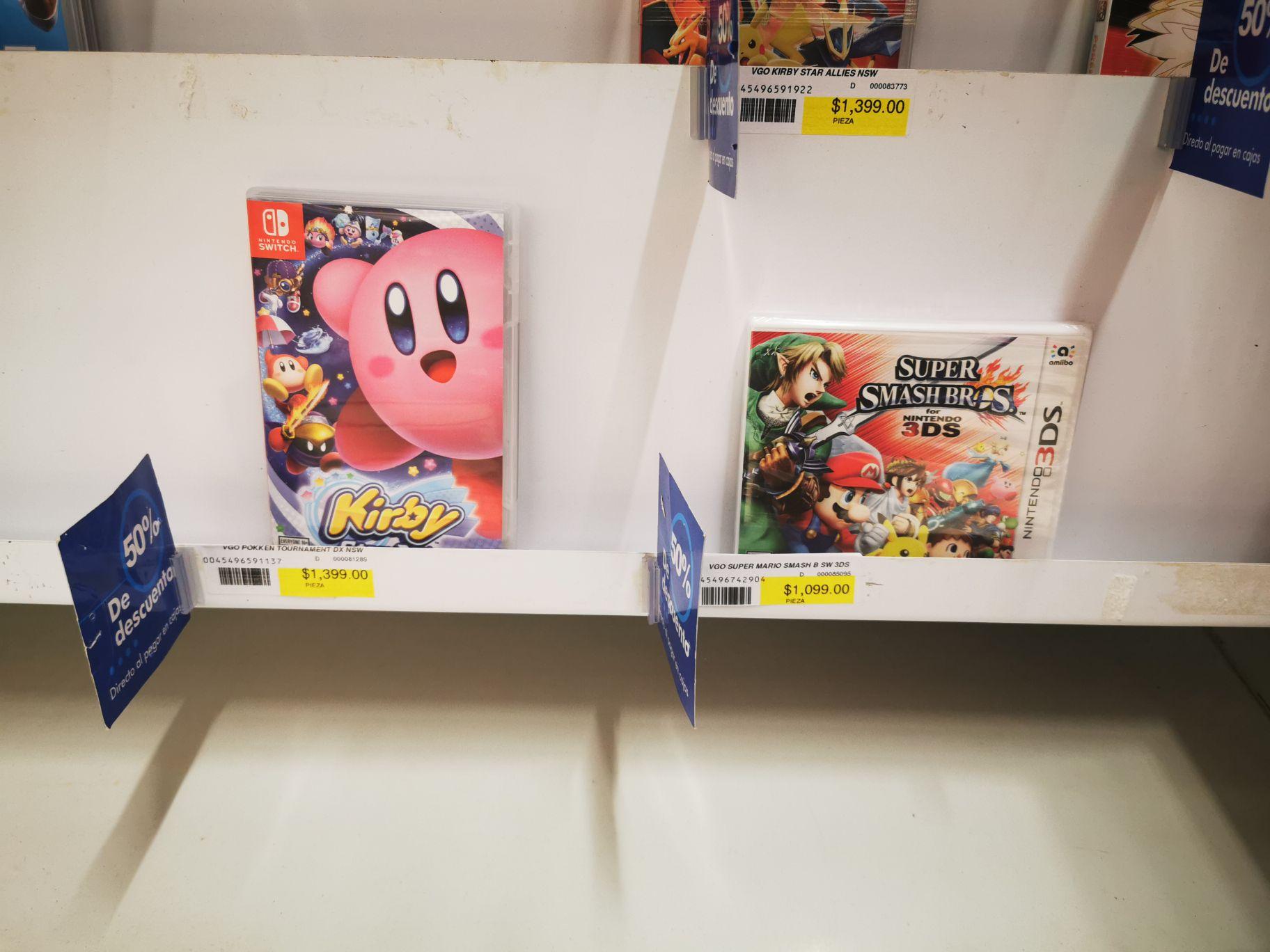 Office depot. Kirby Juegos a mitad de precio. Nacional. Ps4 Switch 3ds y one entran a 50%