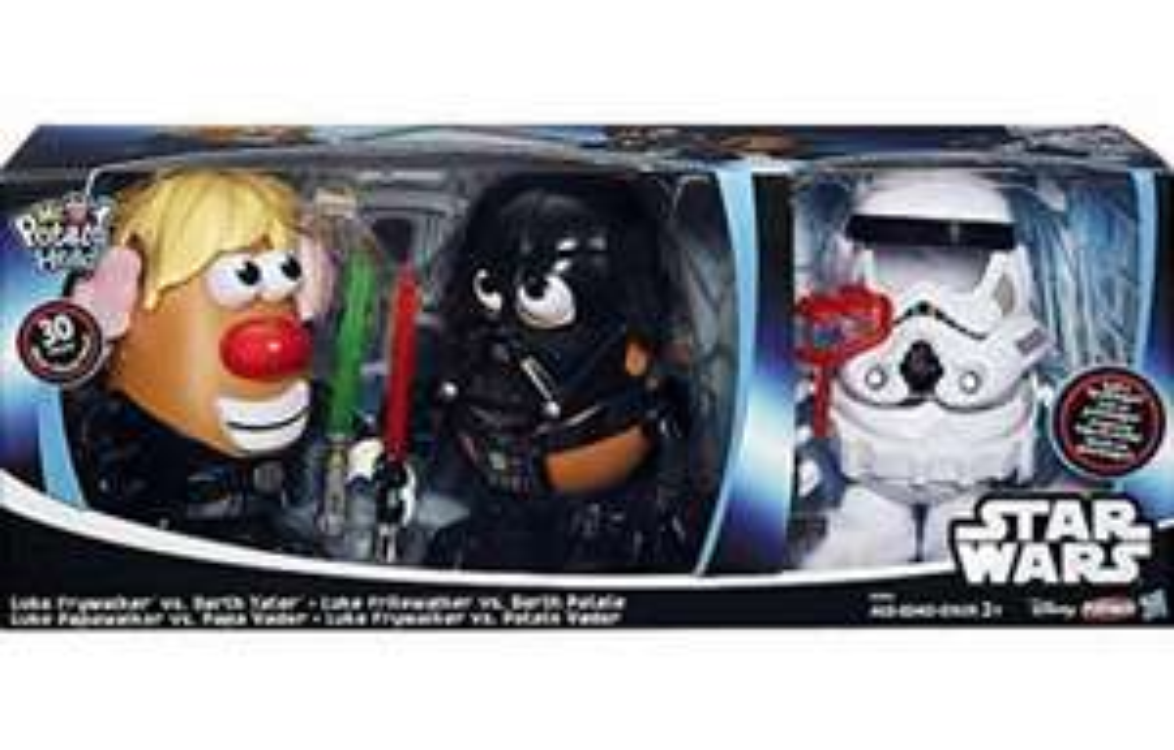 Walmart Acoxpa: Señor Cara de Papa Set Luke Frywalker vs Darth Tater & Spudtrooper Costume a $325.02