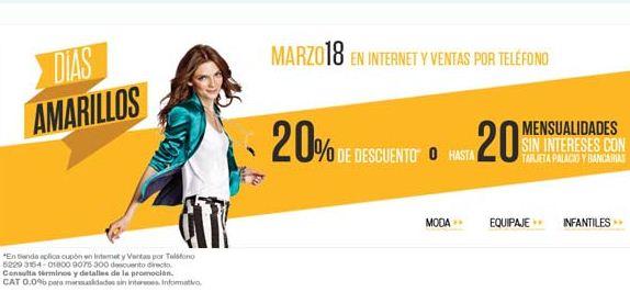 Palacio de Hierro: 20% en cupones en tienda ó 20% de descuento online. Sólo hoy.