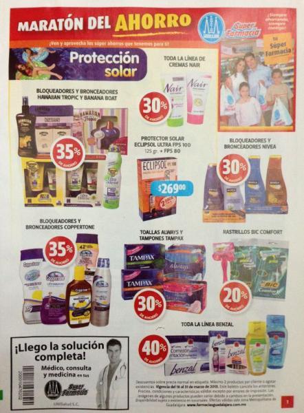 Folleto Farmacias Guadalajara segunda quincena marzo 2013