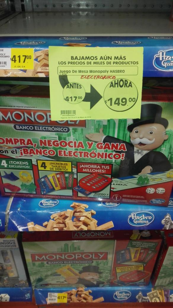 Comercial Mexicana Mixcoac: Monopoly Electrónico a $149