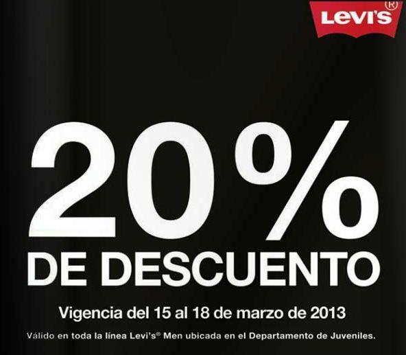 Liverpool: 20% menos Levi's Men y 15% en monedero en ropa para toda la familia