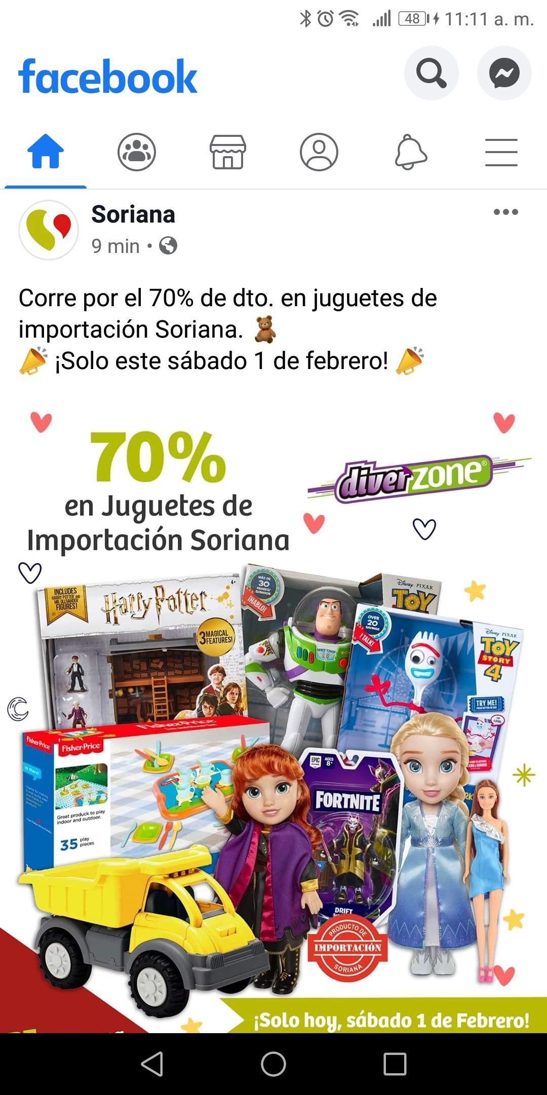 Soriana: 70% de descuento en juguetes de importación