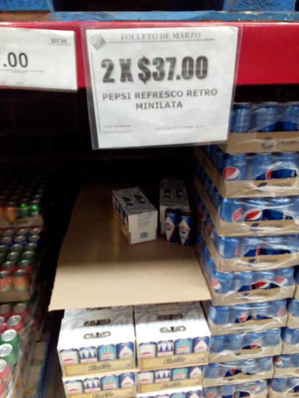City Club: Pepsi mini 8 pack 2 por $37