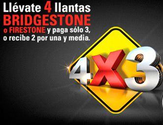 Segunda llanta Brigestone o Fireston a mitad de precio o cuarta llanta gratis