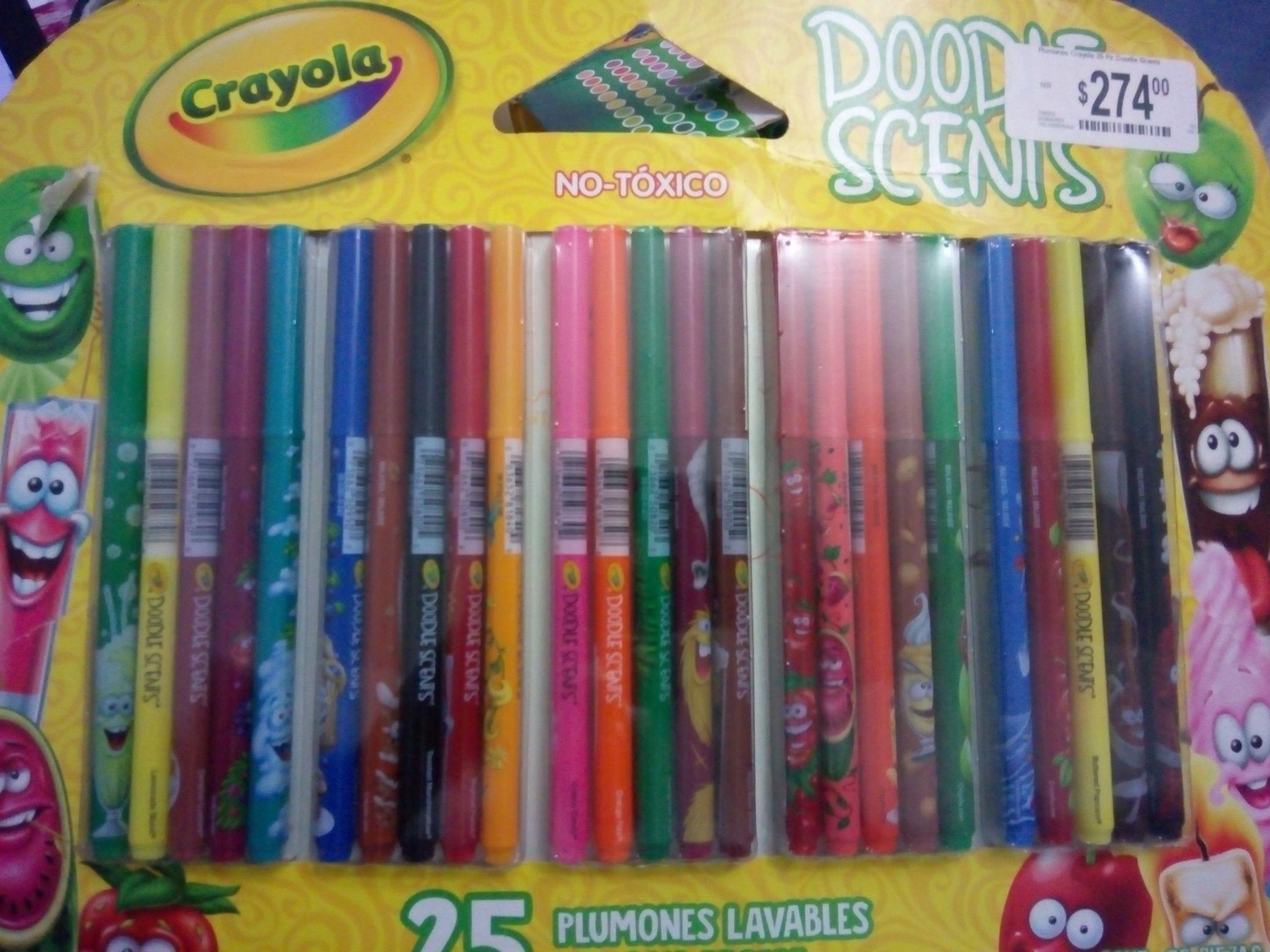 Chedraui: Plumones crayola Doodle Scents
