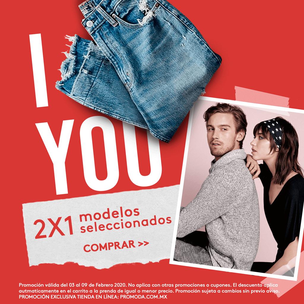 Promoda Outlet: 2 x 1 en modelos seleccionados en tienda en Línea