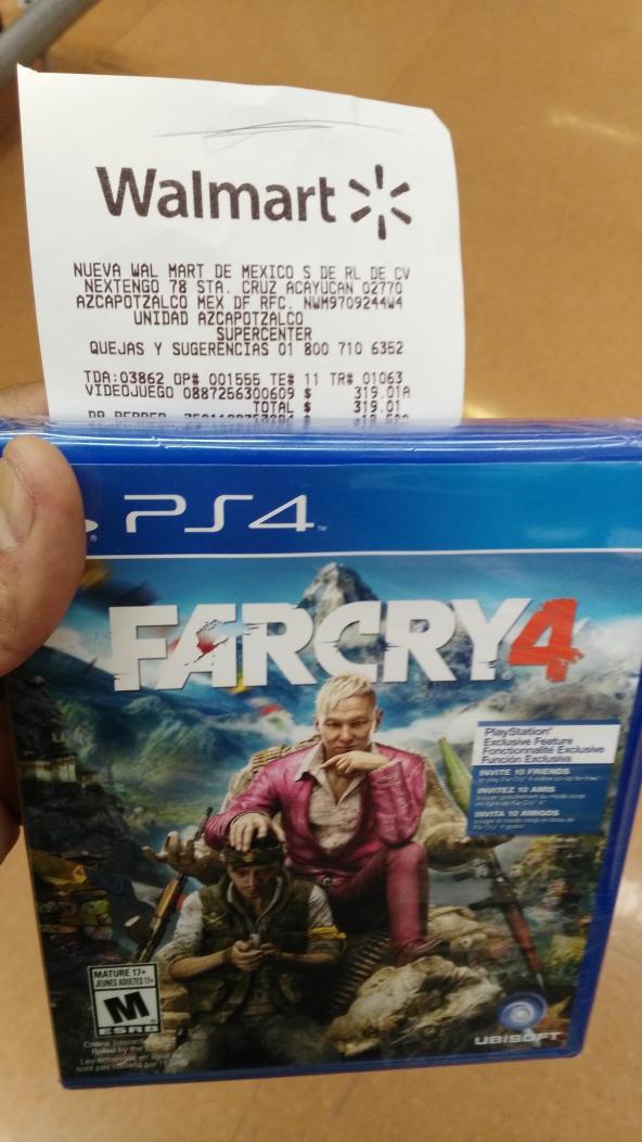 Walmart: Far Cry 4 para Playstation 4 a $319