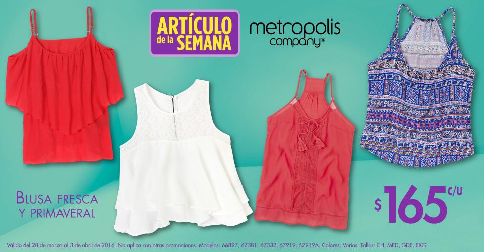 Suburbia: artículo de la semana blusa Metrópolis $165 pesos