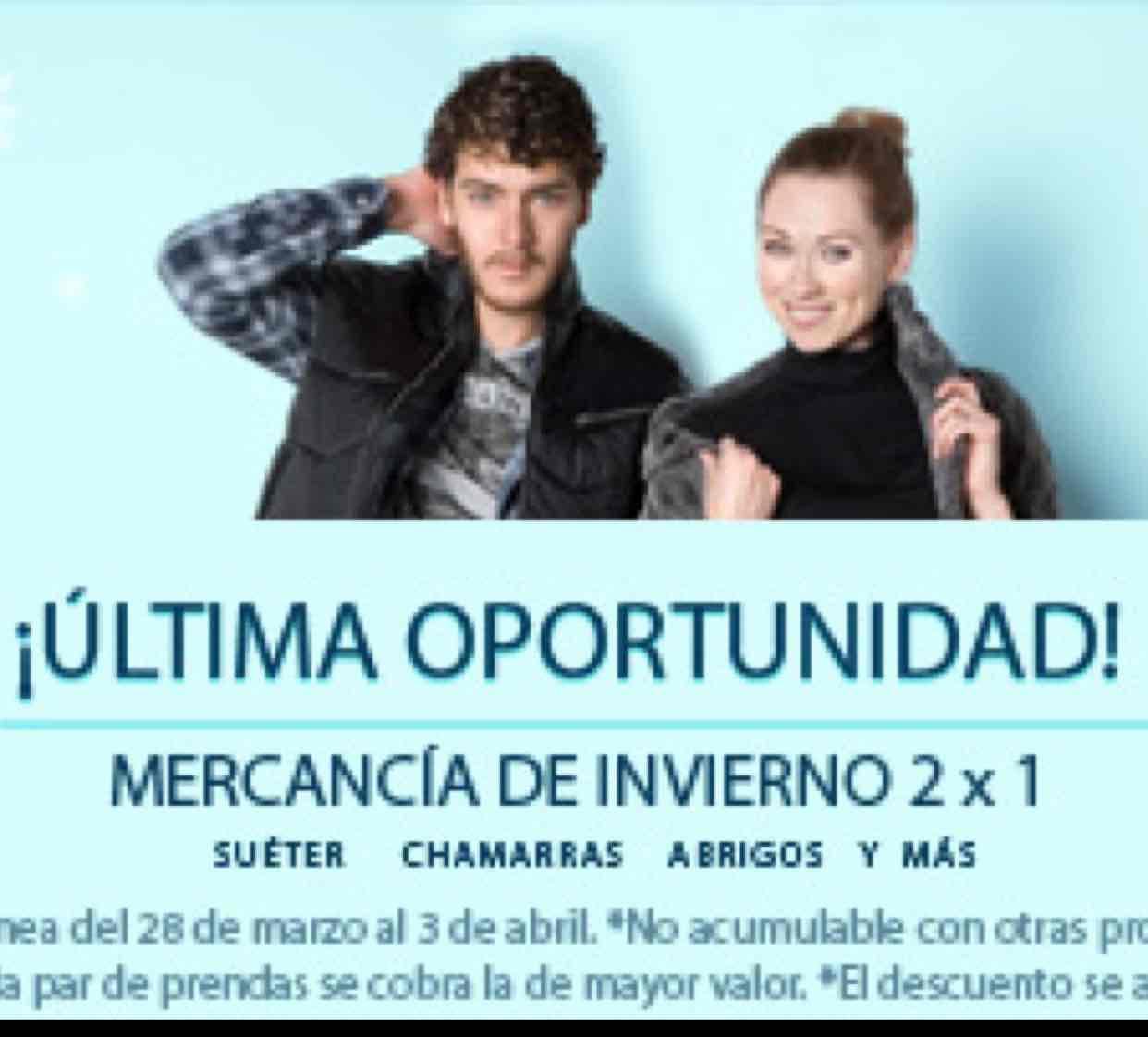 Promoda en línea: 2x1 en mercancía de invierno