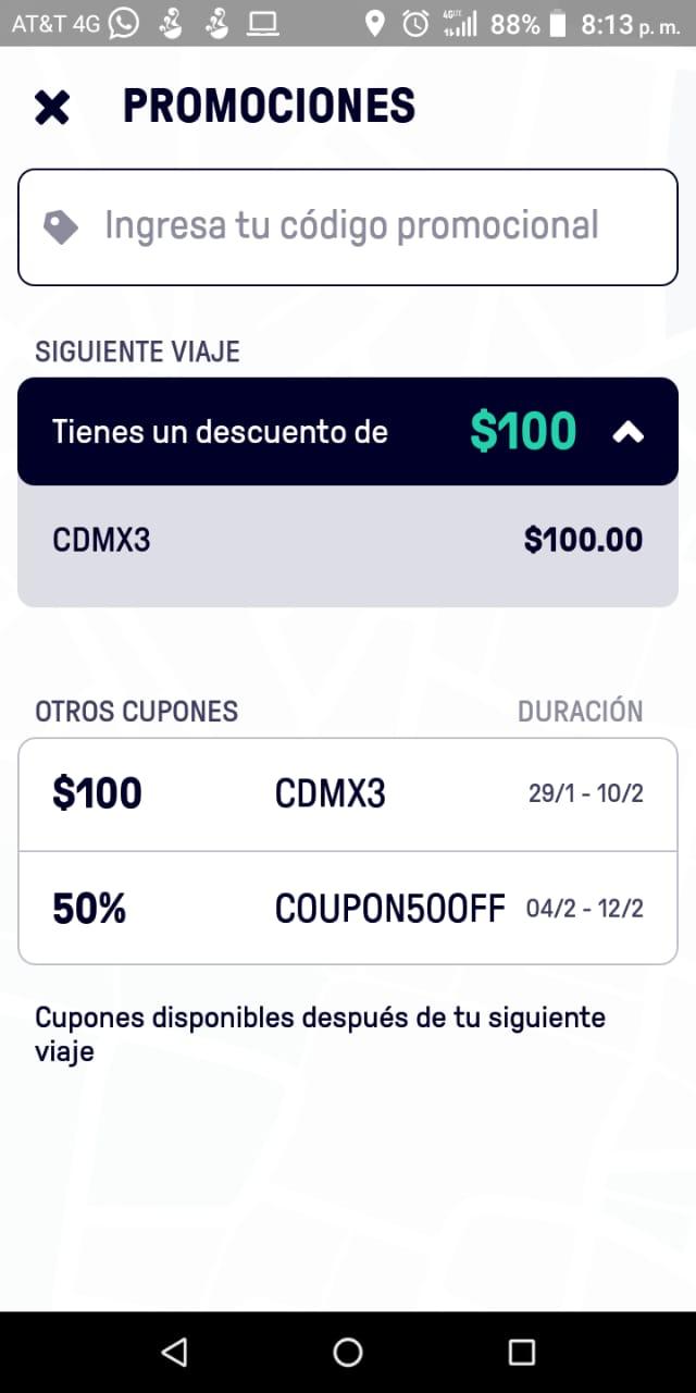 Beat: descuento de 200 pesos (nuevos usuarios)