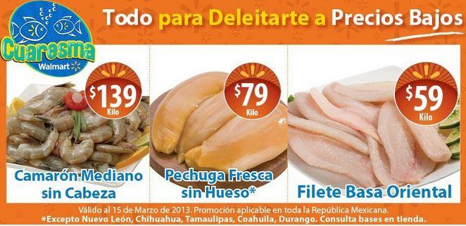 Ofertas de carnes y mariscos en Chedraui y Walmart marzo 15