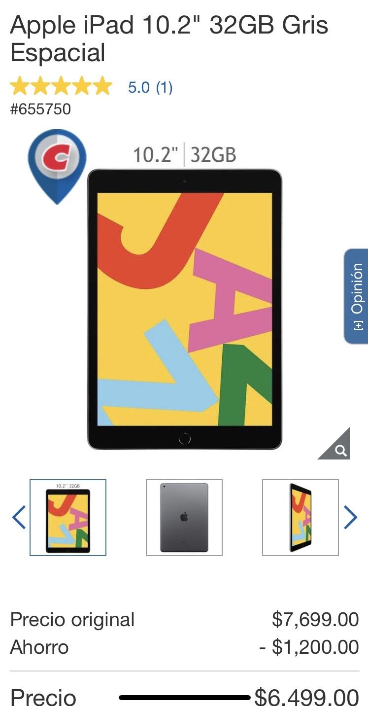 "Costco: Apple iPad 10.2"" 32GB"
