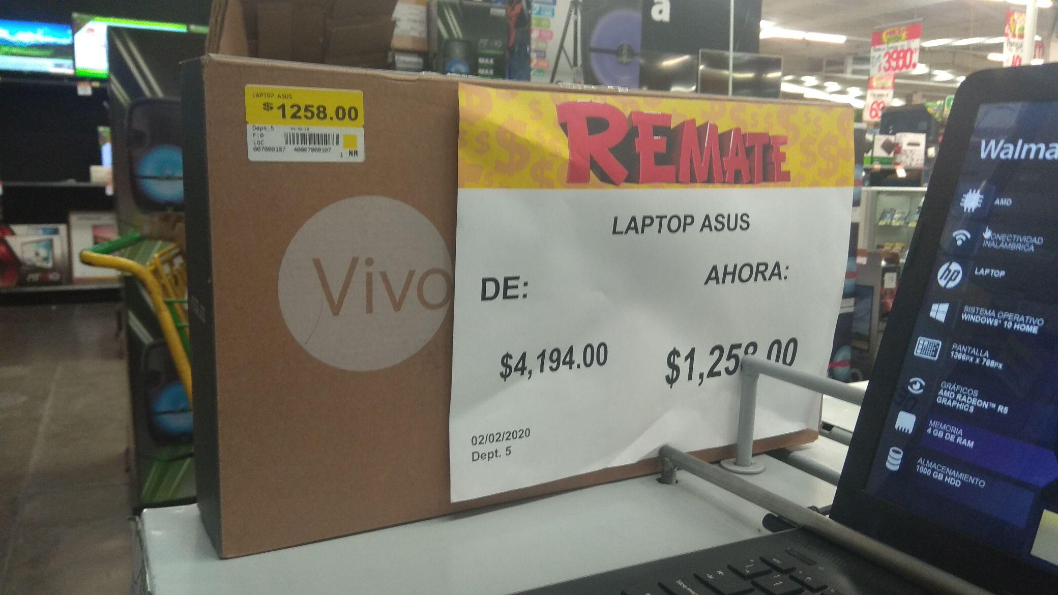 Bodega Aurrerá: Laptop Asus en remate