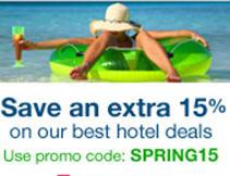 Orbitz: 15% de descuento extra en hoteles