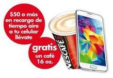 Miérconómicos Farmacias Benavides: Café gratis en recargas de $50