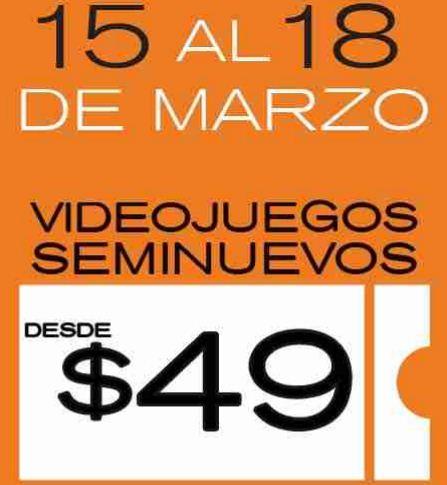 Blockbuster: venta de videojuegos seminuevos del 15 al 18 de marzo