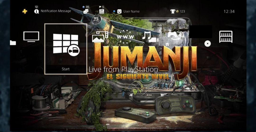 PSN: Avatar y tema dinámico ps4 jumanji